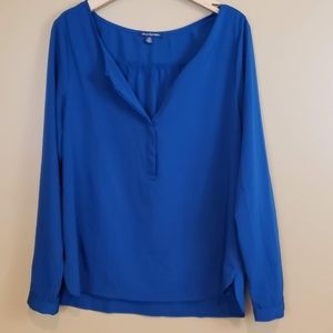 American Eagle LG blue tunic